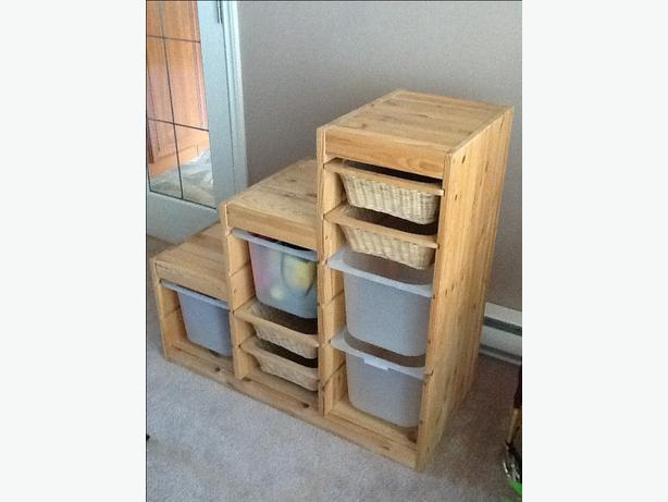 IKEA TROFAST frame with storage bins Oak Bay, Victoria