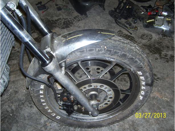 Honda V45 Magna 750 front forks front suspension front wheel