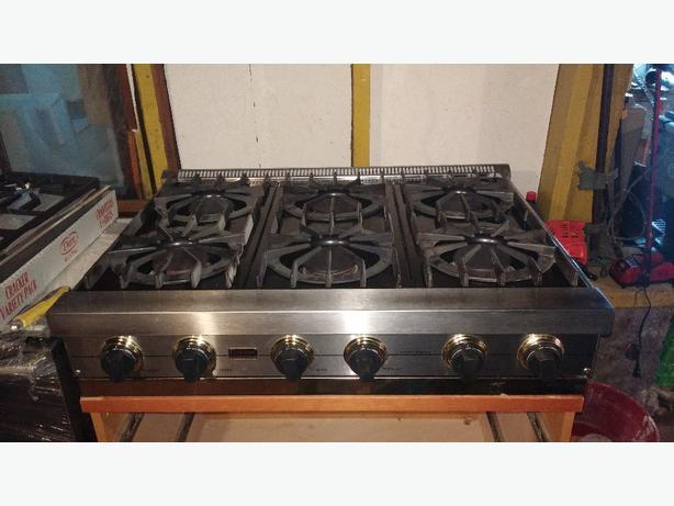 Gas Cooktop Hoods ~ Viking gas cooktop oven and vent hood oak bay victoria