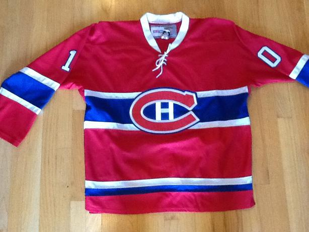 Montreal Canadiens Guy Lafleur Red CCM Stiched Jersey