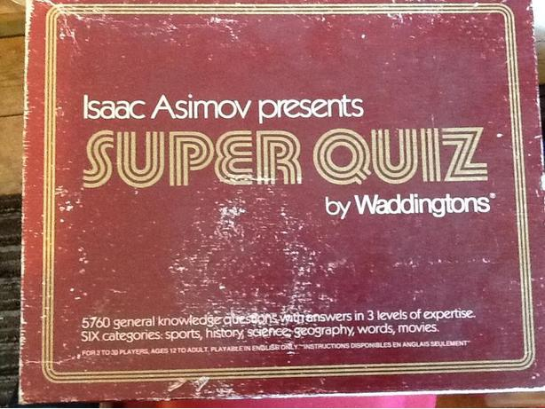 Isaac Asimov Super Quiz by Waddingtons