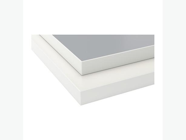 Brand new ikea kitchen countertop double sided white gray for Ikea ekbacken countertop