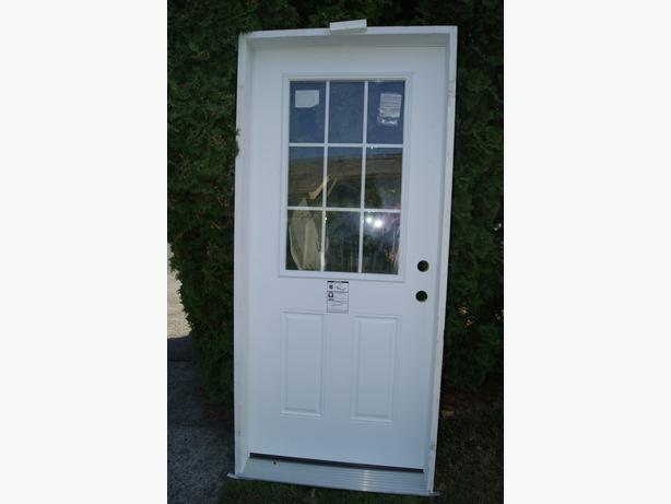 Brand new exterior steel door saanich victoria for Exterior door brands