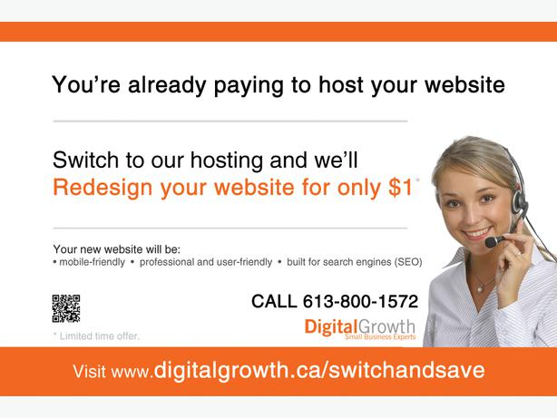 Get a website for only $1 - switch and save today