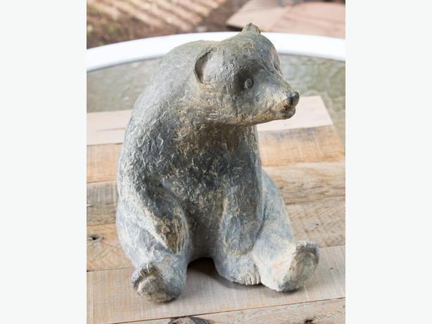 Beautiful carved stone bear statue soapstone west shore