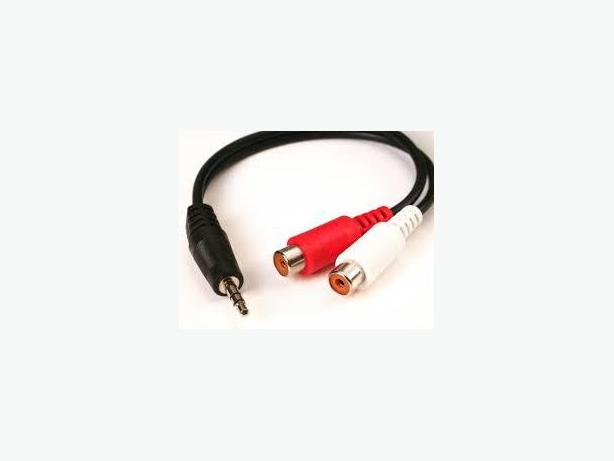 3.5mm Stereo (M) Y Adapter to 2 RCA (F) Adapter