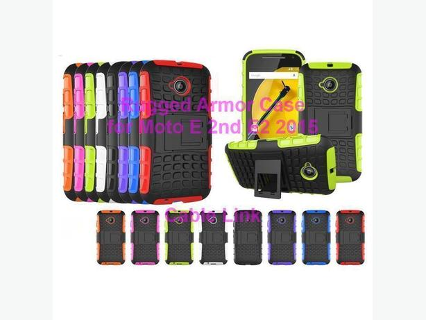 Rugged Armor Hybrid Case for Motorola Moto E 2nd E2 2015