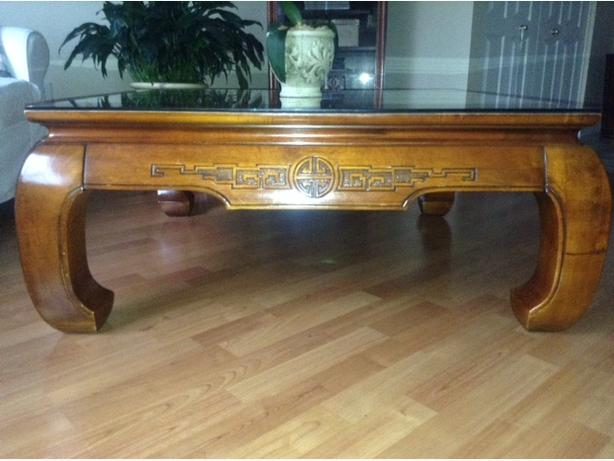 Tique cherry wood coffee table table de salon antique - Table de salon antique ...