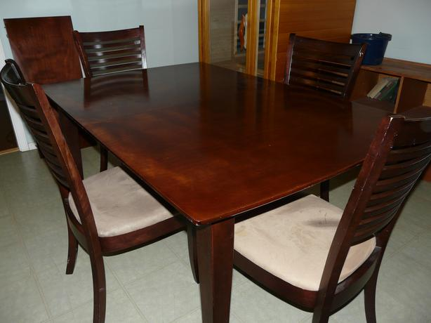 Solid wood dining room set ladysmith cowichan for Dining room table 40 x 60