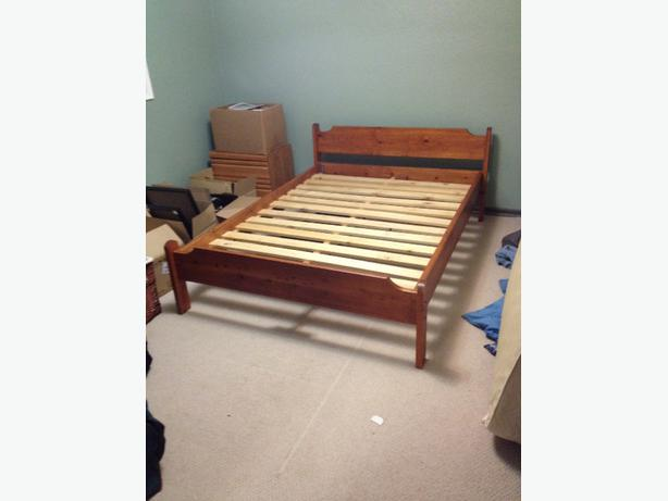 Double bed frame victoria city victoria for Nice bed frames
