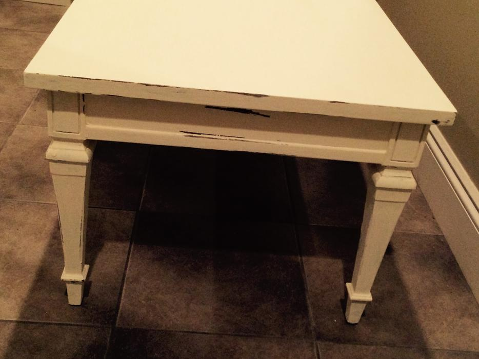 Vintage Walnut Wood Off White Coffee Table Saanich Victoria Mobile