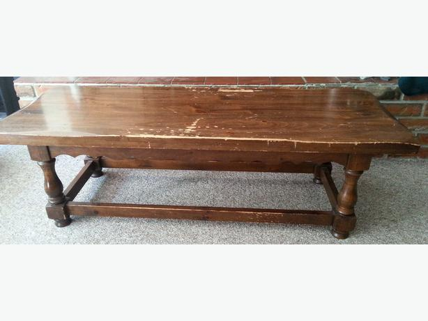 Free coffee table solid wood central saanich victoria for Coffee tables london ontario
