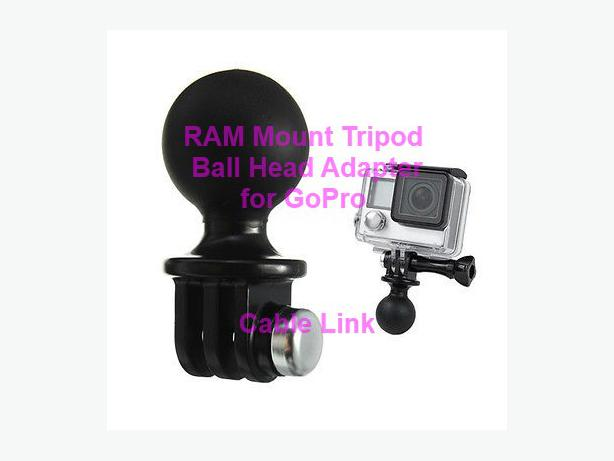 RAM Mount Tripod Ball Head Adapter For GoPro Hero 1 2 3 3+ 4