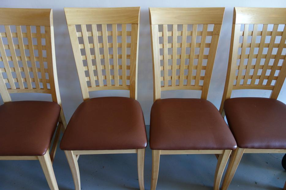 dining chairs with leather seats saanich victoria