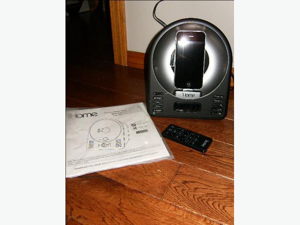 ihome ia63 30 pin ipod  iphone  4s  alarm clock speaker dock charger north regina  regina iHome Portable Speakers iHome Speaker