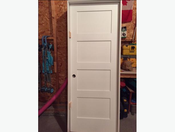 Interior Prehung Doors Solid Wood 4 Panel Shaker Style