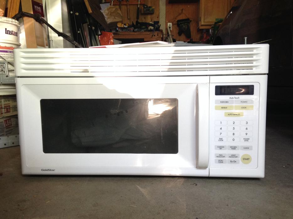 Pristine over the range microwave oven saanich victoria - Red over the range microwave ...