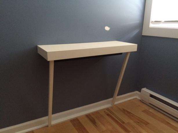 ikea roll out mini desk saanich victoria. Black Bedroom Furniture Sets. Home Design Ideas