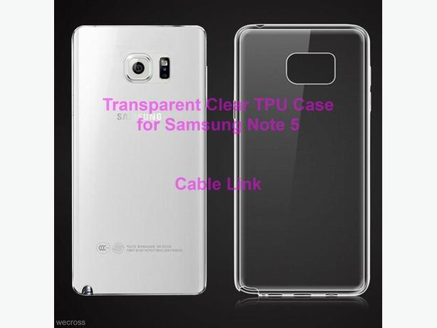 Transparent Clear TPU Case for Samsung Galaxy Note 5