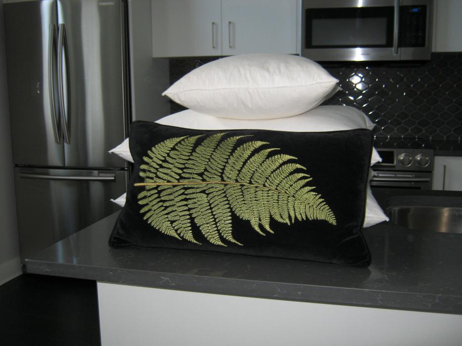 CHINTZ AND COMPANY BLACK DECORATIVE PILLOW West Shore: Langford,Colwood,Metchosin,Highlands ...