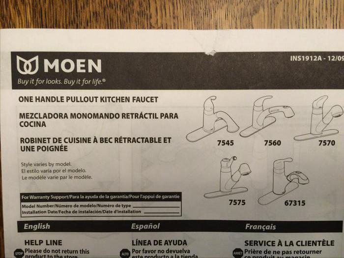 Moen Kitchen Faucet With Pull Out Sprayer Outside Comox