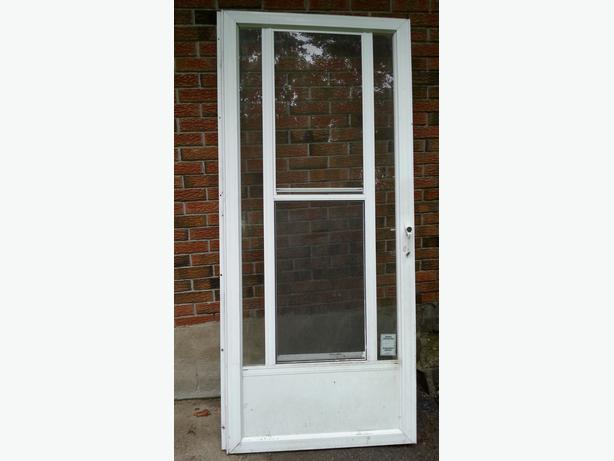 White  Aluminium Storm Door.