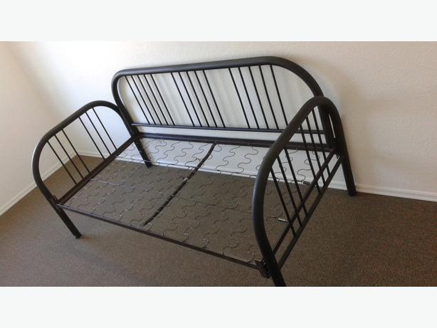 Black tube day bed frame very nice looking just add for Nice bed frames