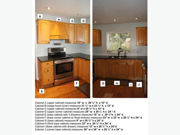 Oak kitchen cabinets campbell river courtenay comox for Kitchen cabinets york region