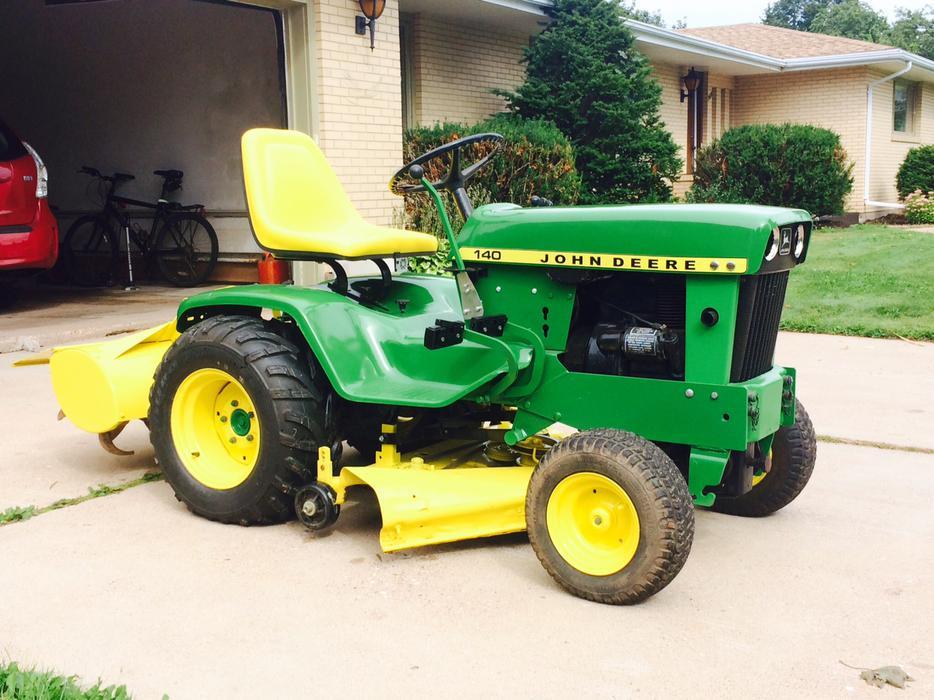 1973 John Deere 140 Garden Tractor Mower Tiller Fully Restored Summerside Pei