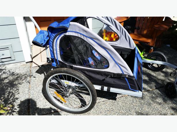 Excellent Condition Schwinn Two Seat Bike Trailer With Stroller