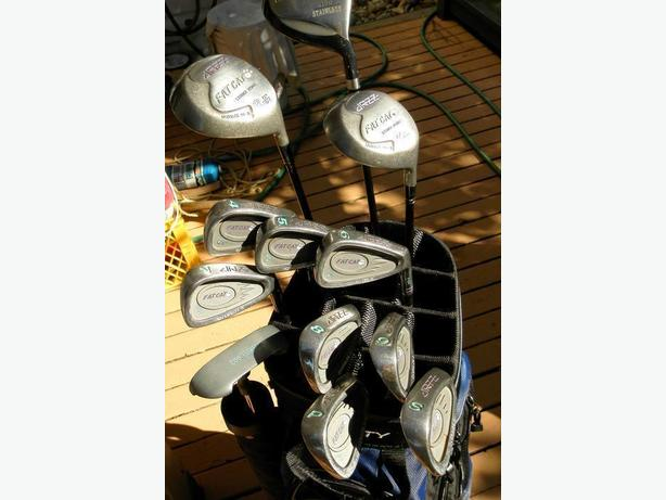 LADIES YOUTH RT HAND ALL GRAPHITE GOLF STAINLESS SET EXC CONDITION