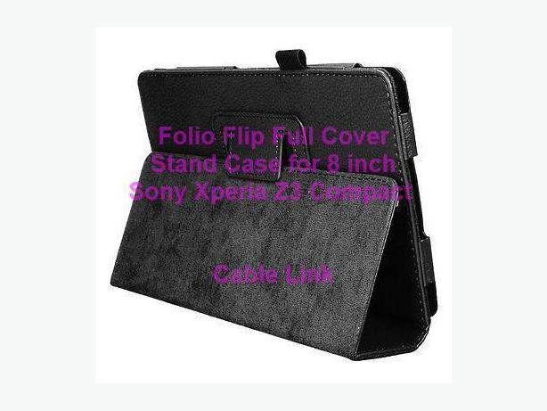 Folio Flip Leather Stand Case for Sony Xperia Tablet Z3 Compact