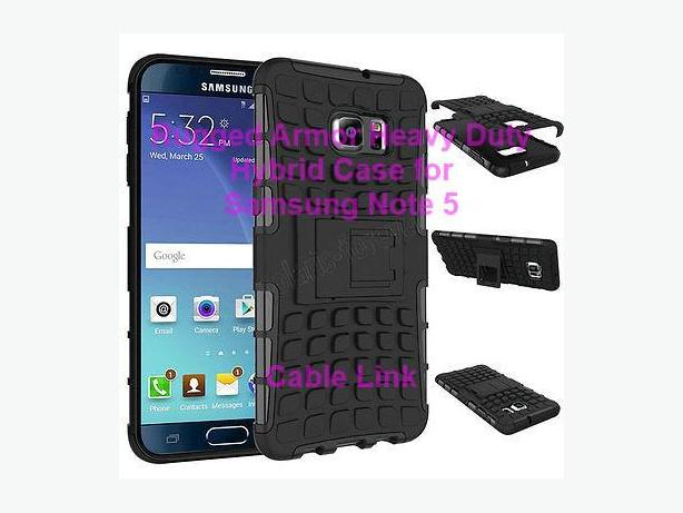 Rugged Impact Armor Kickstand Hybrid Case For Samsung Note 5