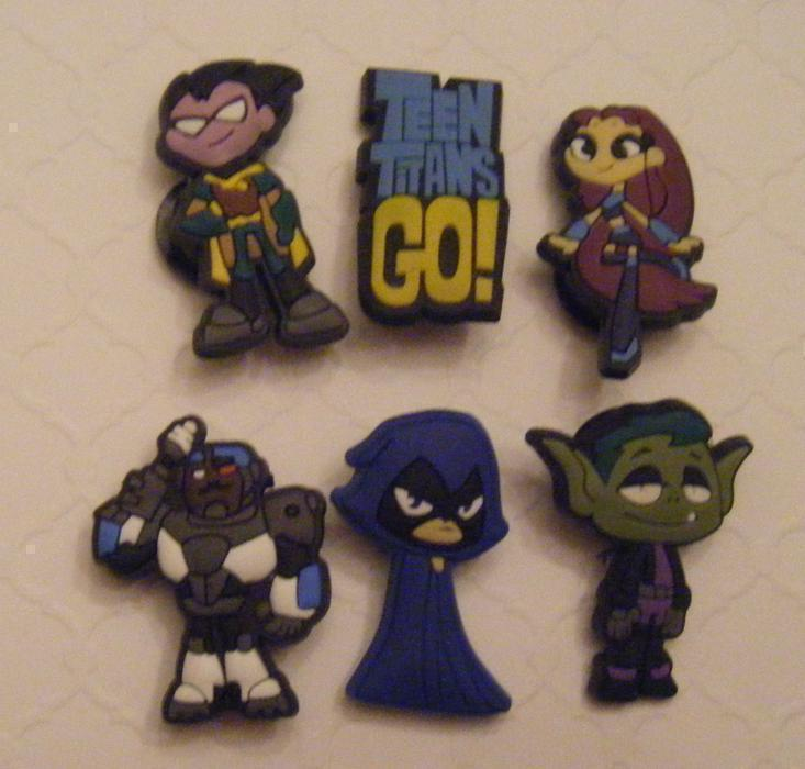 Teen Titans Shoe Charms or Magnets West Shore:  Langford,Colwood,Metchosin,Highlands, Victoria