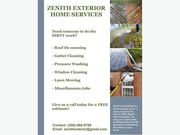 Exterior Home Cleaning Services Comox Comox Valley