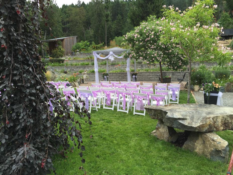 Shawnigan Gardens Giant Party Tent For Weddings And