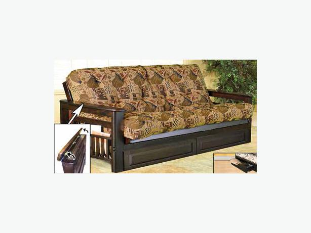 Futon Frame With Magazine Rack And Storage Arms If 238
