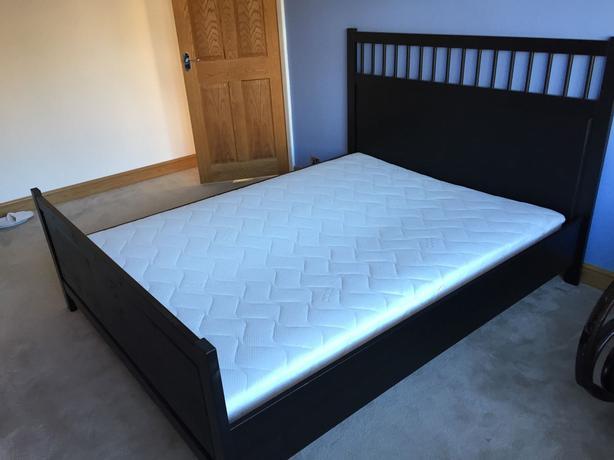 ikea hemnes queen bed frame only oak bay victoria. Black Bedroom Furniture Sets. Home Design Ideas