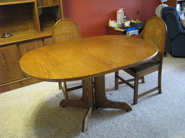 new price oak dining table and chairs courtenay campbell river