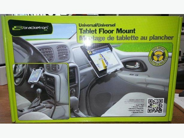 "Bracketron Universal 7"" to 10"" Tablet Floor Mount for Vehicles."
