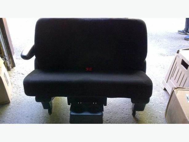 Dodge grand caravan bench seat -Like new- Black with floor base