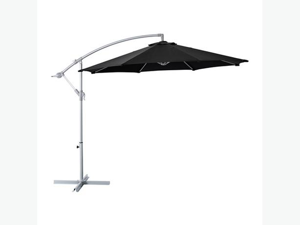 outdoor cantilever umbrella ikea karlso black 118 5 in