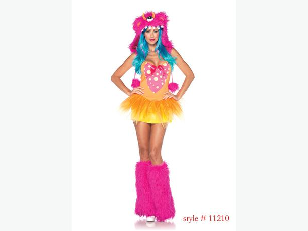 Monster Halloween Costume pink/orange S/M