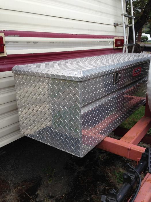 Deezee Checker Plate Truck Rv Tool Storage Box Saanich