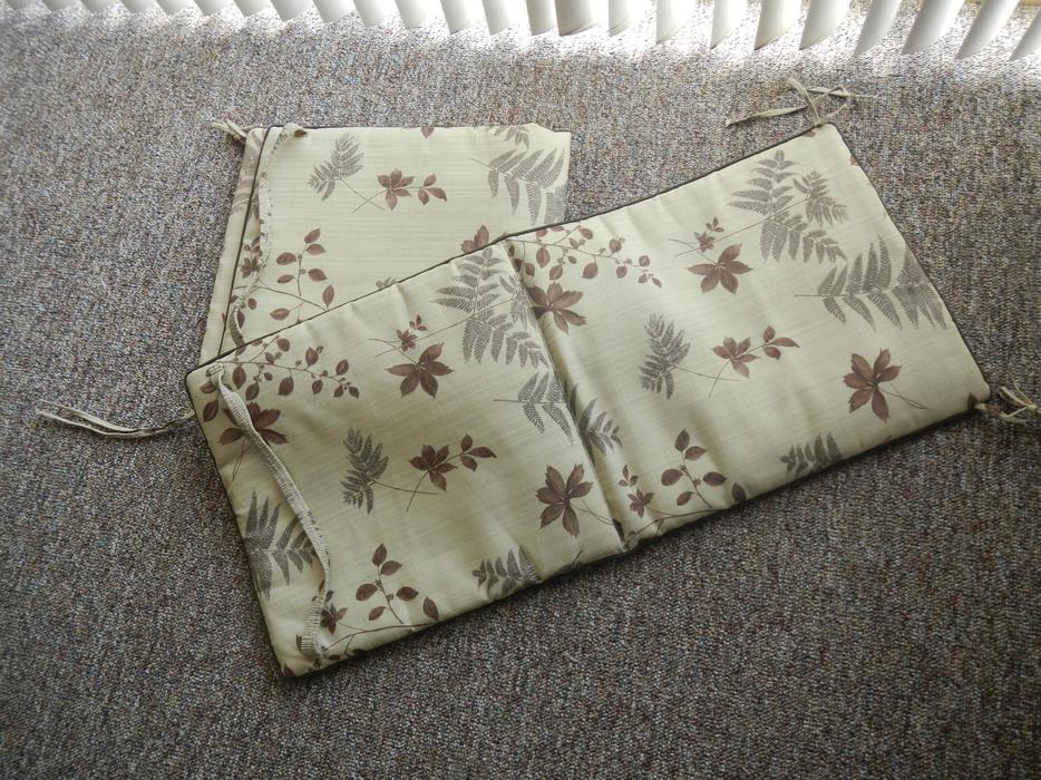 Full cover chair cushions with strap and ties oak bay for Chair cushion covers with ties