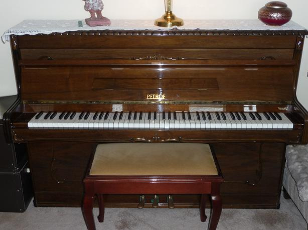 Petrof upright grand piano south nanaimo parksville for Small grand piano size