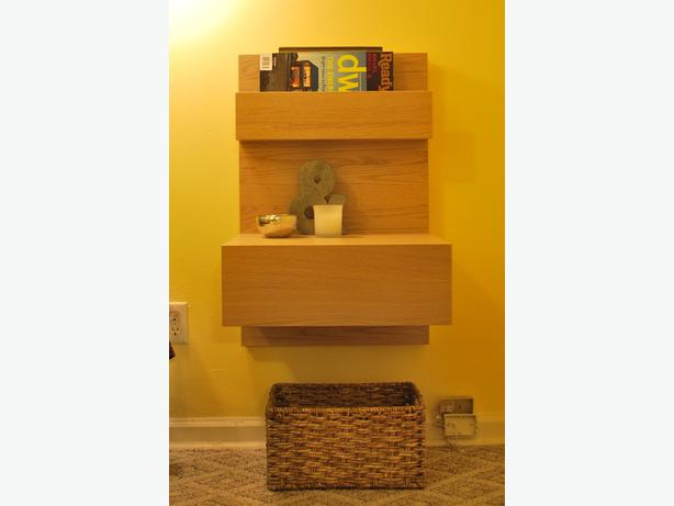 ikea malm wall mounted nightstand oak bay