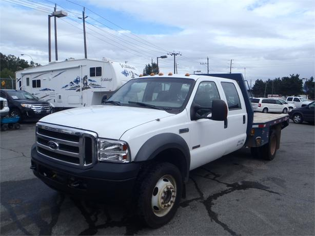 2005 Ford F 550 Flatdeck Crew Cab Dually Diesel 4wd With