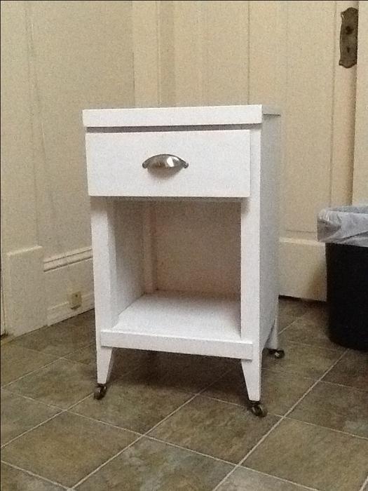 Painted oak bathroom cabinet printer table oak bay victoria for Bathroom cabinets nanaimo