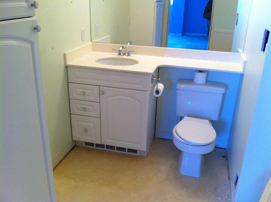 Free Bathroom Cabinet With Undermount Sink And Faux Marble Countertop Victoria City Victoria